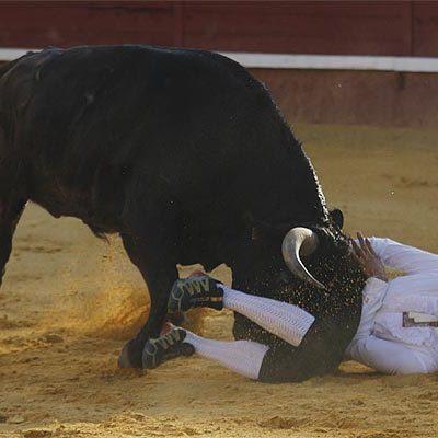 Héctor Cabano sufrió un puntazo en el costado en el Torneo de Cortes que ganó el toledano Moisés Fernández