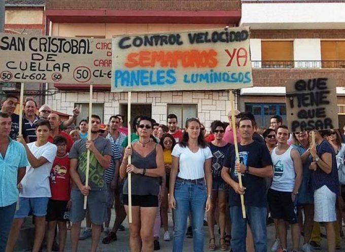 San Cristobal de Cuéllar se moviliza para pedir más seguridad en su travesía