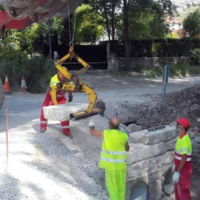 La Diputación realiza obras de ampliación de la calzada en la carretera de Vegafría a Membibre de la Hoz