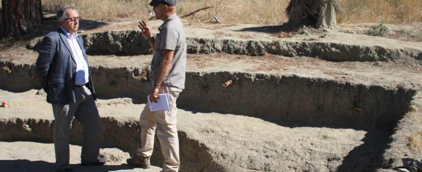 El delegado territorial visita el yacimiento de 'La Peña del Moro' en Navas de Oro