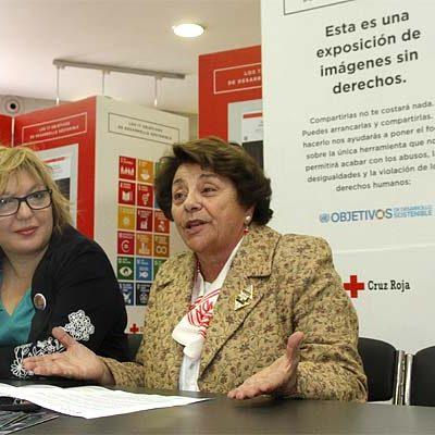 Cruz Roja acerca a Cuéllar la exposición `Imágenes sin derechos´