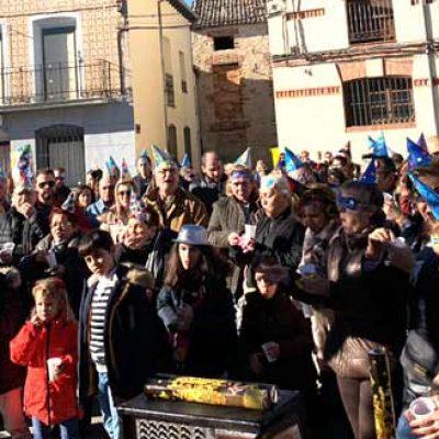 Los vecinos de Fuenterrebollo se anticiparon a la celebración de la Nochevieja