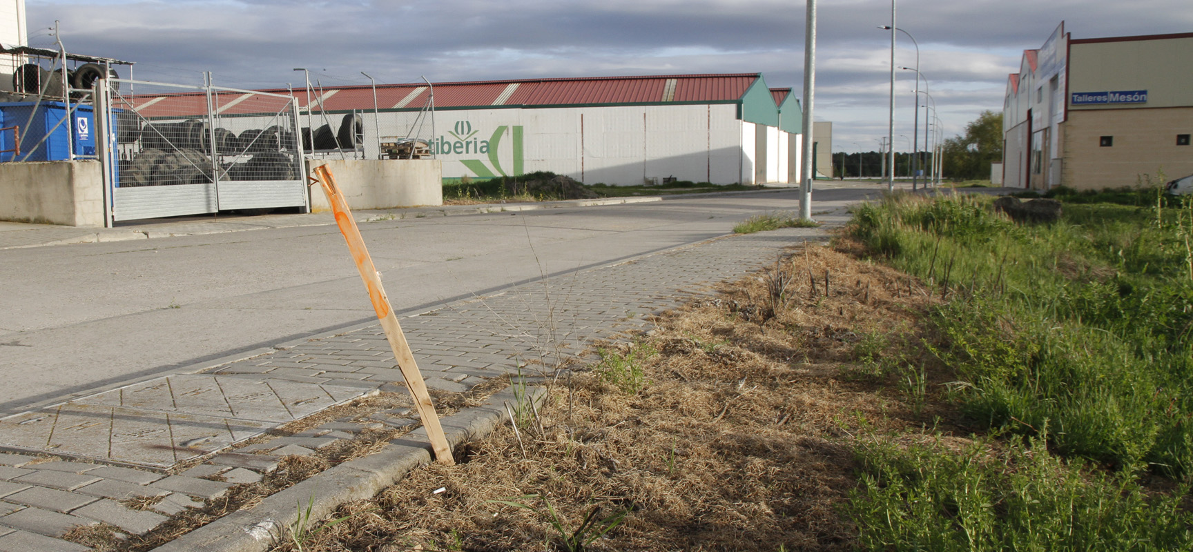 Parcela en el Polígono Malriega donde el Ayuntamiento construirá la nave.