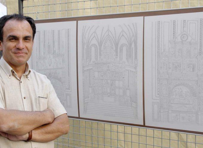 Manuel Ortega permite conocer el interior de la iglesia de San Francisco a través de sus láminas