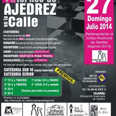VII Torneo Ajedrez en la Calle en Carbonero el Mayor el domingo 27 de julio