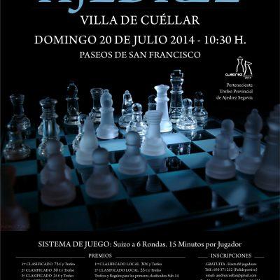 Los Paseos de San Francisco acogerán el II Torneo de Ajedrez Villa de Cuéllar el domingo 20 de julio
