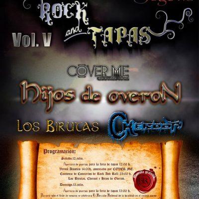 Cover Me, Los Birutas, Cheroot e Hijos de Overon en el V Rock & Tapas en Sanchonuño