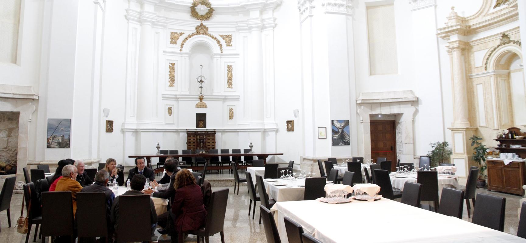 Interior de la Posada de los Condes de Fuentidueña, donde se desarrollará la presentación de la ruta.
