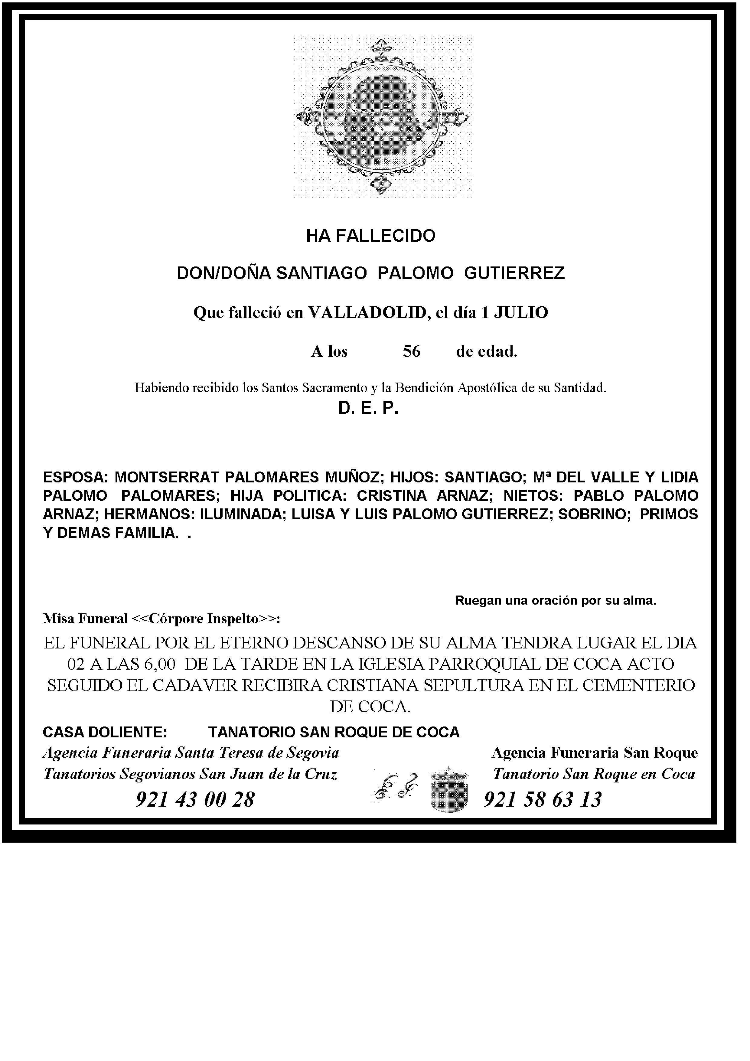 SANTIGO PALOMO GUTIERREZ