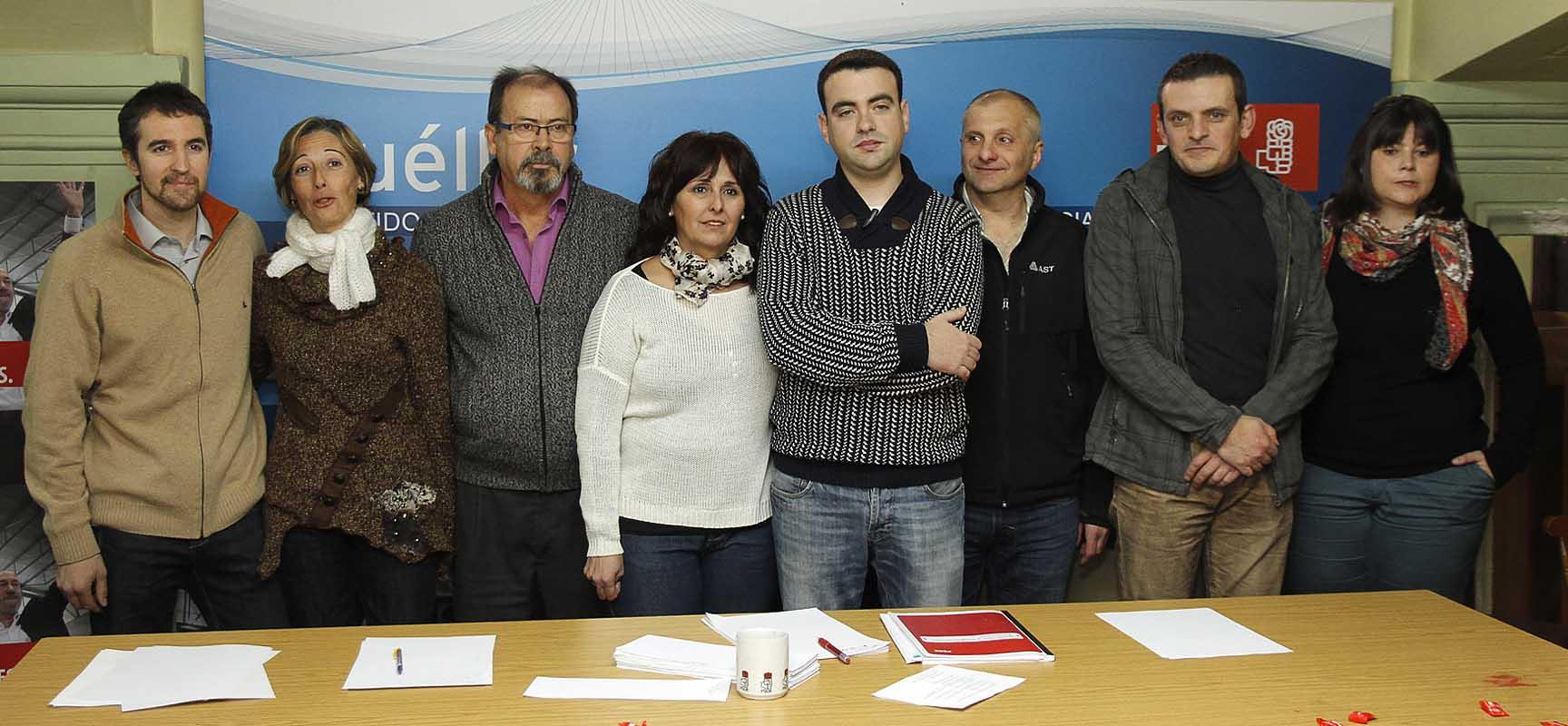 Miembros de la Ejecutiva de la Agrupación local de Cuéllar