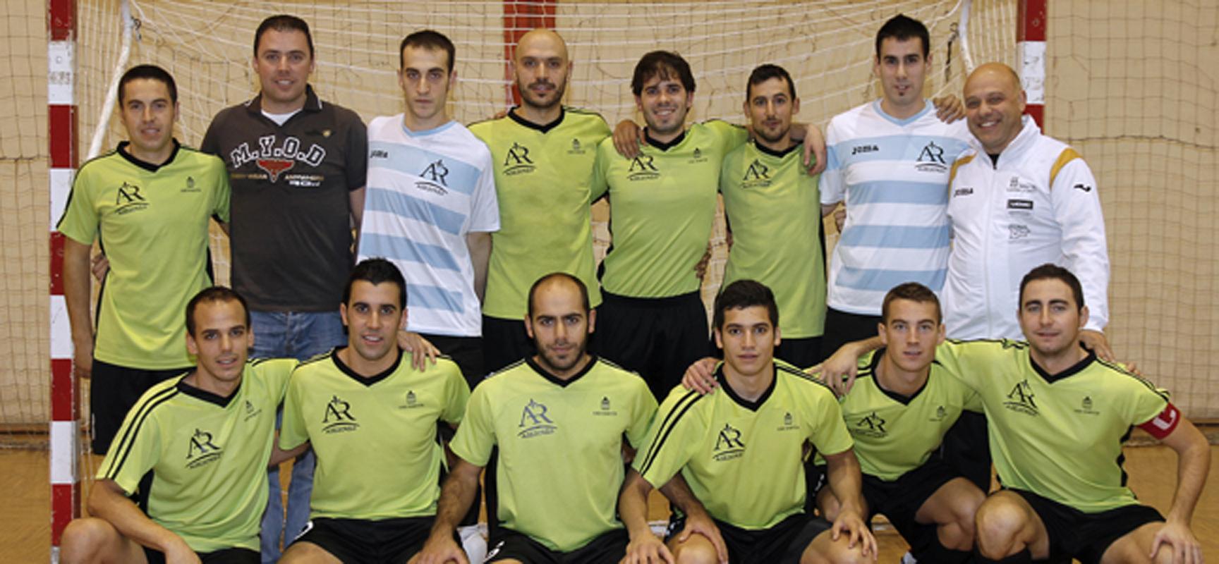 Plantilla del FS Cuéllar Cojalba en la temporada 2013-1014.