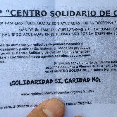 """El grupo 15M Cuéllar denuncia la existencia de personas que piden """"puerta a puerta"""" en su nombre"""
