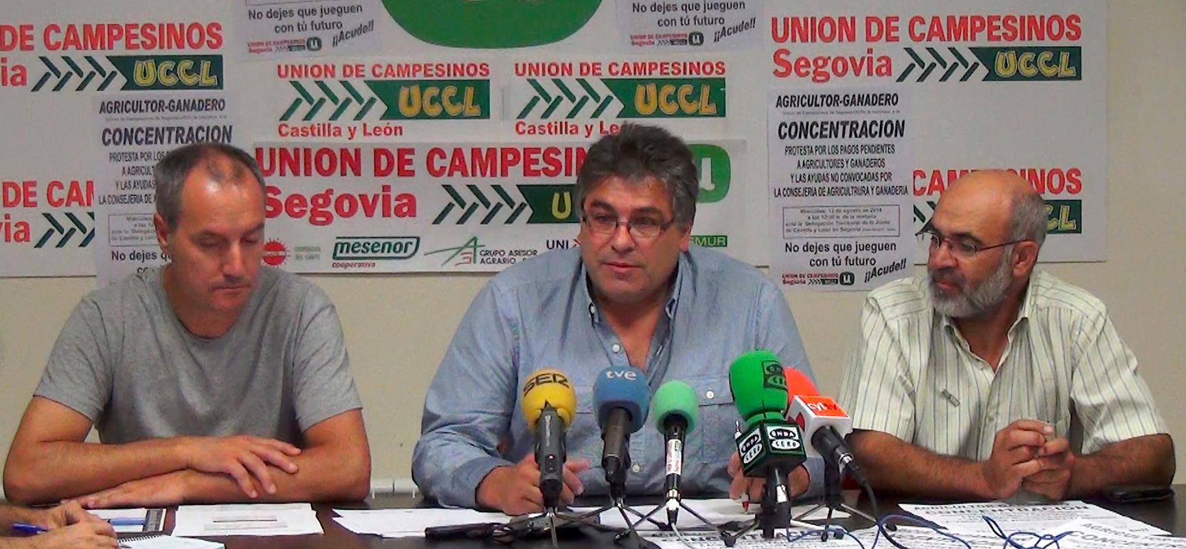 Un momento de la rueda de prensa en la que se anunciaron las movilizaciones.