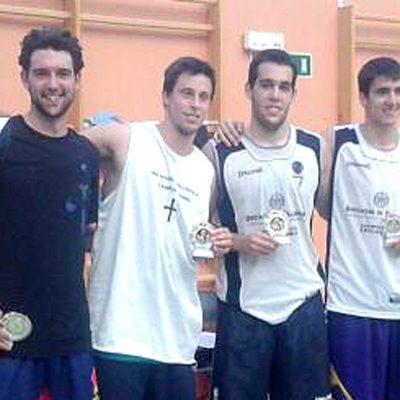"El equipo vallisoletano Pitufillas de Chueca vencedor del I Torneo 3×3 ""Villa de Cuéllar""."