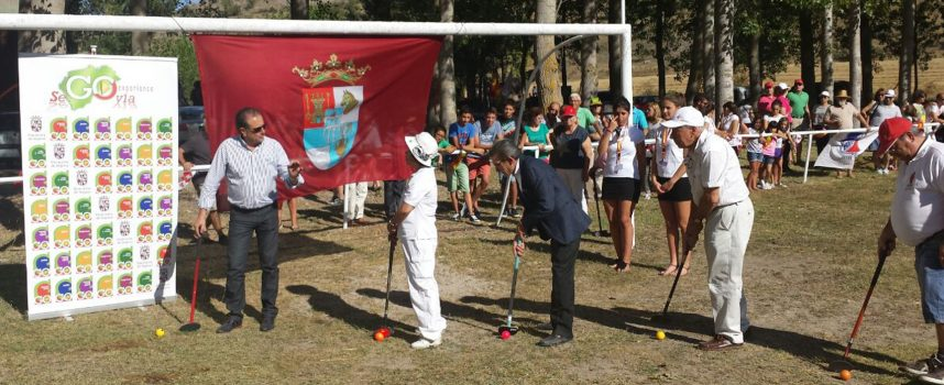 Éxito de la exhibición de Ground-golf celebrada en Sacramenia