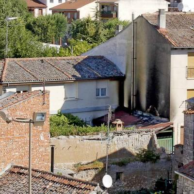 Un incendio afectó a una vivienda durante la pasada madrugada en Cuéllar