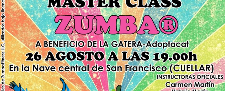 Master Class de Zumba solidaria a beneficio de La Gatera en la nave central de San Francisco
