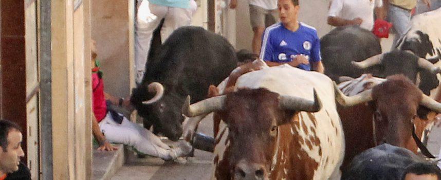 Tres heridos por asta de toro y tres contusionados en el segundo de los encierros