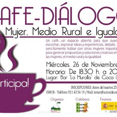 ISMUR organiza en Coca un café debate sobre mujeres, medio rural e igualdad