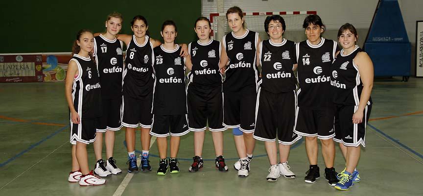 Equipo del Baloncesto Eufón Cuéllar femenino de la temporada 2014-15.