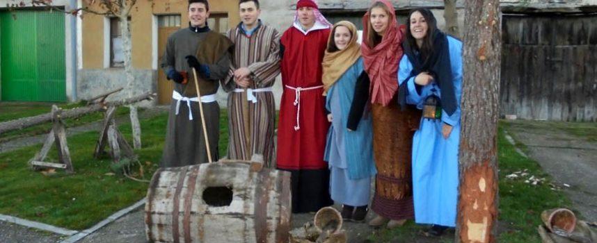 Gran participación en la recreación del belén viviente de Zarzuela del Pinar