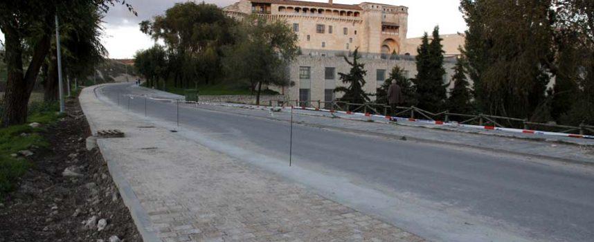Concluye la obra de  construcción de la acera del camino del Alamillo