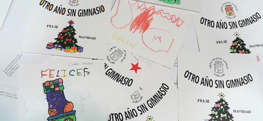 Algunas de las felicitaciones elaboradas por los alumnos de La Villa.