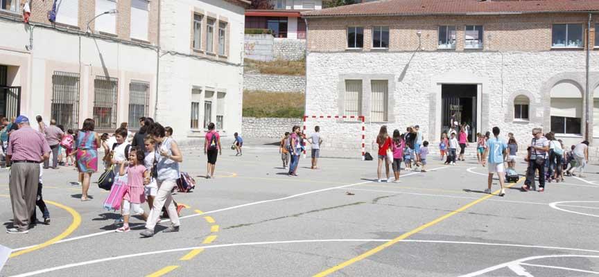 Patio del colegio La Villa.