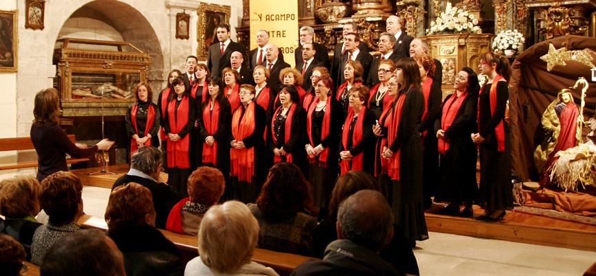 La Coral Cuellarana en una edición anterior del concierto Tempus Natalis.