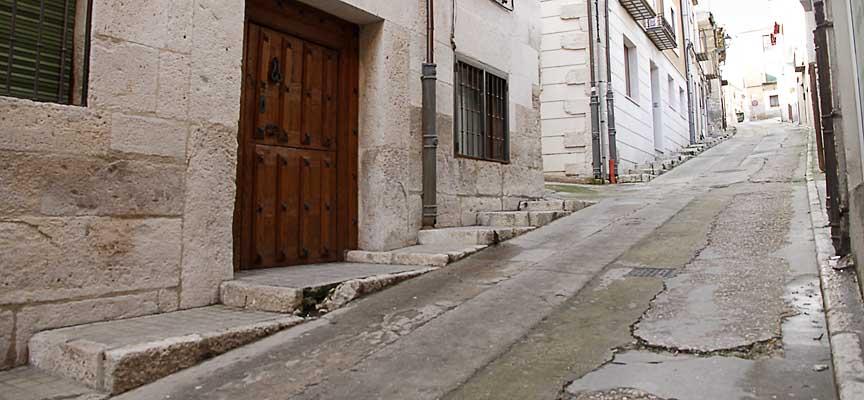 Calle de La Morería, en Cuéllar.