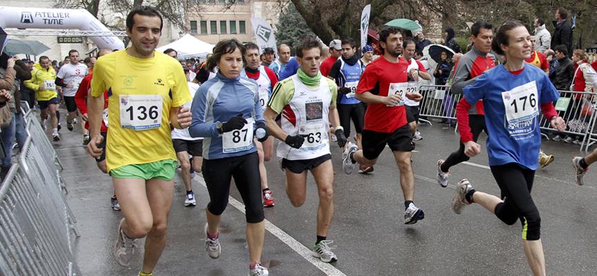 Participantes en la edición anterior de la Carrera Murallas de Cuéllar.