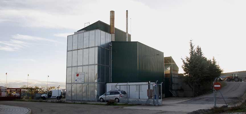 Instalaciones de la Planta de Biomasa de Cuéllar.
