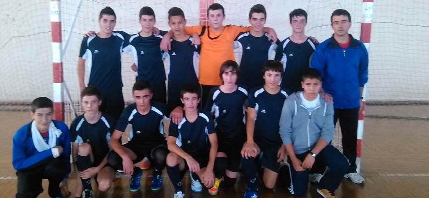 Integrantes del equipo cadete del FS Naturpellet esta temporada.