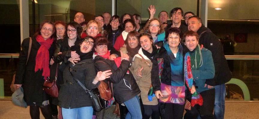 Los socios de Zereia en su visita a Madrid.