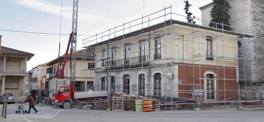 Estado actual de las obras del Ayuntamiento de Olombrada