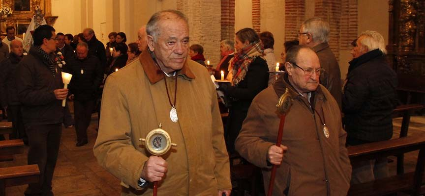Feliciano Sanz (izquierda). Mayordomo de Las Candelas de 2015