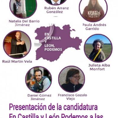 """El Centro Solidario acogerá la presentación de la lista """"En Castilla y León, Podemos"""""""