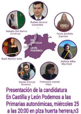 Cartel Presentacion En CyL Podemos
