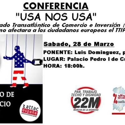 Charla sobre el Tratado Transatlántico de Comercio e Inversión con Estados Unidos en el Centro Solidario