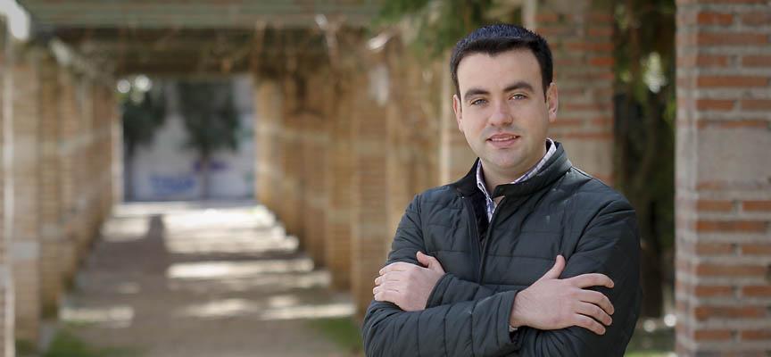 Carlos Fraile, candidato del PSOE a la Alcaldía de Cuéllar.