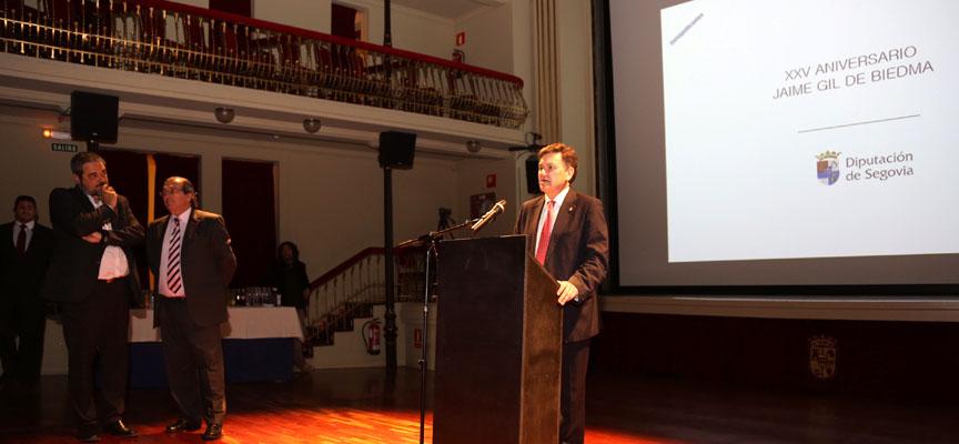 El presidente de la Diputación Francisco Vázquez durante la presentación.