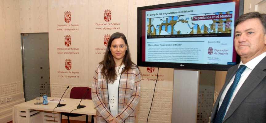 Francisco Vázquez y Teresa Cantero durante la presentación del blog.