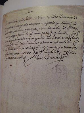 Documento del Archivo Histórico Nacional