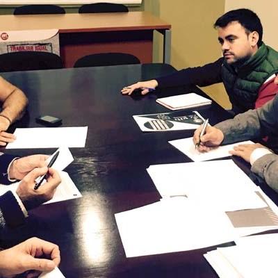 José Luis Aceves y Carlos Fraile mantuvieron un encuentro con representantes de UGT