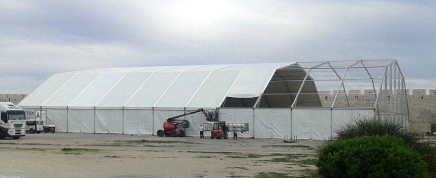 Comienza la instalación de las carpas para la XXX Feria de Cuéllar