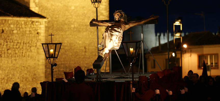 Imagen de archivo del Cristo de San Gil portado en andas en Jueves Santo.