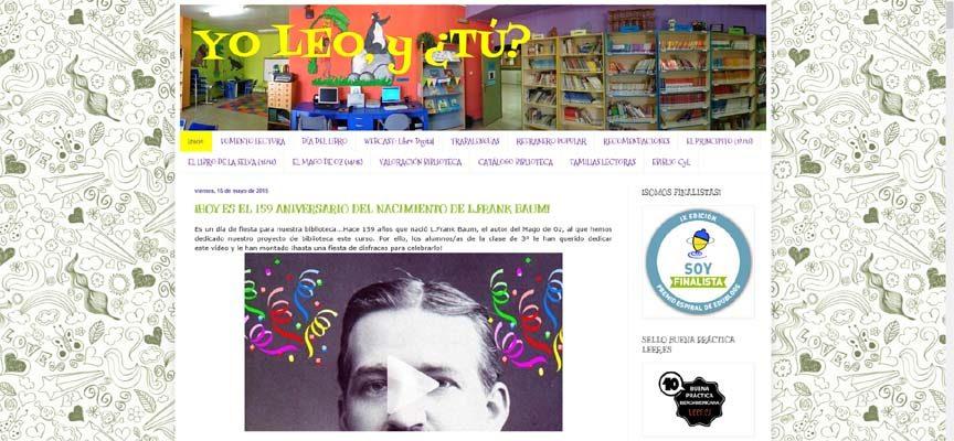 """El blog de la biblioteca de San Gil """"Yo leo, y ¿tú?"""" ganador de un premio Espiral Educablogs"""