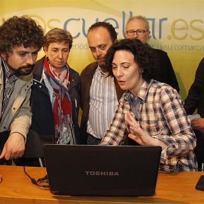 José Sarrión acompañó a IU en la presentación de su candidatura de Cuéllar