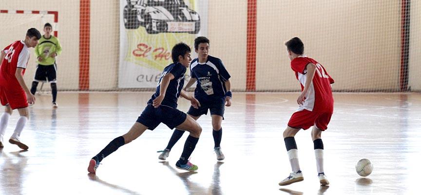 Juveniles del FS Naturpellet durante un partido.