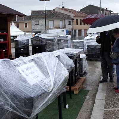 La lluvia deslució la última jornada de la Feria de Cuéllar